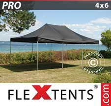 Carpa plegable FleXtents Pro 4x6m Negro