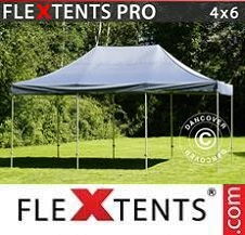 Carpa plegable FleXtents Pro 4x6m Gris