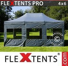Carpa plegable FleXtents Pro 4x6m Gris, Incl. 8 lados