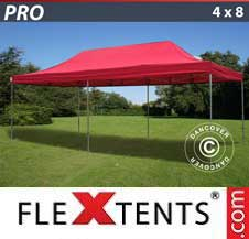 Carpa plegable FleXtents Pro 4x8m Rojo