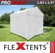 Carpa plegable FleXtents Pro 2,83x2,97m Blanco, incl. 4 lados