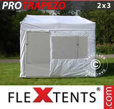 Carpa plegable FleXtents Pro 2x3m Blanco, Incl. 4 lados