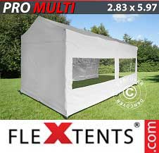 Carpa plegable FleXtents Pro 2,83x5,87m Blanco, incl. 6 lados