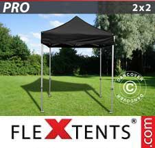 Carpa plegable FleXtents Pro 2x2m Negro
