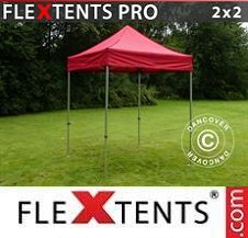 Carpa plegable FleXtents Pro 2x2m Rojo