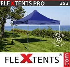 Carpa plegable FleXtents Pro 3x3m Azul oscuro