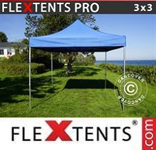 Carpa plegable FleXtents Pro 3x3m Azul
