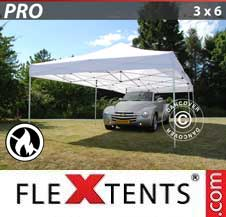 Carpa plegable FleXtents Pro 3x6m Blanco, Ignífuga