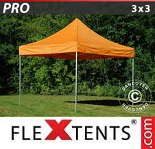 Carpa plegable FleXtents Pro 3x3m Naranja