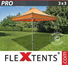 Carpa plegable FleXtents Pro 3x3m Naranja reflectante