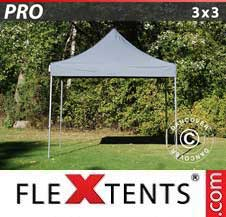 Carpa plegable FleXtents Pro 3x3m Gris