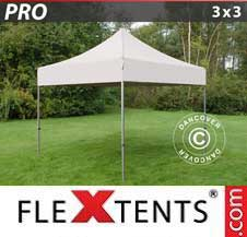 Carpa plegable FleXtents Pro 3x3m Latte