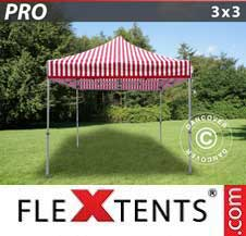 Carpa plegable FleXtents Pro 3x3m rayado