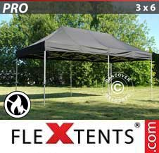 Carpa plegable FleXtents Pro 3x6m Negro, Ignífuga