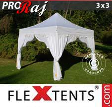 Carpa plegable FleXtents Pro 3x3m Blanco/Oro