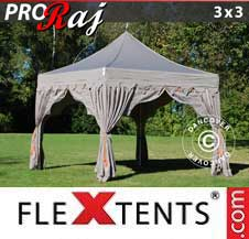 Carpa plegable FleXtents Pro 3x3m Latte/Naranja