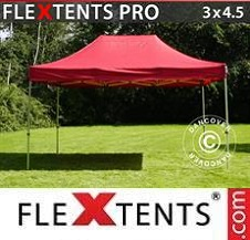 Carpa plegable FleXtents Pro 3x4,5m Rojo