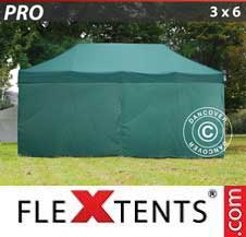 Carpa plegable FleXtents Pro 3x6m Verde, Incl. 6 lados