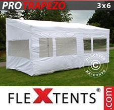 Carpa plegable FleXtents Pro 4x4m Gris, Incl. 4 lados