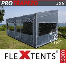 Carpa plegable FleXtents Pro 3x6m Gris, Incl. 4 lados