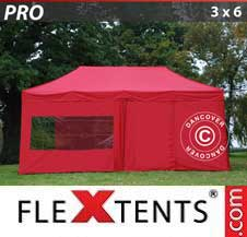 Carpa plegable FleXtents Pro 3x6m Rojo, Incl. 6 lados