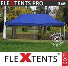 Carpa plegable FleXtents Pro 3x6m Azul oscuro