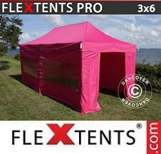 Carpa plegable FleXtents Pro 3x6m Rosa, Incl. 6 lados