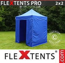 Carpa plegable FleXtents Pro 2x2m Azul, incl. 4 lados