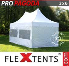 Carpa plegable FleXtents Pro 3x6m Blanco, incluye 6 muros