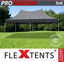Carpa plegable FleXtents Pro 3x6m Negro, incluye 6 muros
