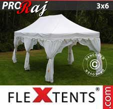 Carpa plegable FleXtents Pro 3x6m Blanco/Oro