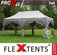 Carpa plegable FleXtents Pro 3x6m Latte/Naranja
