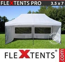 Carpa plegable FleXtents Pro 3,5x7m Blanco, Incl. 6 lados