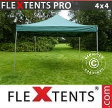 Carpa plegable FleXtents Pro 4x4m Verde