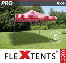Carpa plegable FleXtents Pro 4x4m rayado